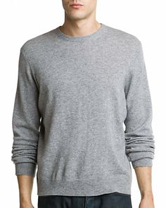 Sofiacashmere Heather Grey Cashmere Crewneck Sweater