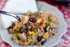 Southwestern Chicken & Rice Skillet is a filling, low-fat supper filled with taco-spiced chicken, corn, back beans, salsa, chicken broth, and rice.  If you're anything like me, then it looks like a bomb has gone off in your kitchen after you're done making dinner. Or reheating lunch. Or pouring a...