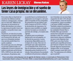 Amigos, los invito a leer mi columna en el distinguido periódico La Visión. Esta semana estaremos hablando acerca de las últimas noticias de inmigración y cómo afecta el Sueño Americano. Disfruten!  My friends, I invite you to read my column in the distinguished La Visión newspaper. This week we'll be talking about the last immigration news and how that affects the American Dream. Enjoy!