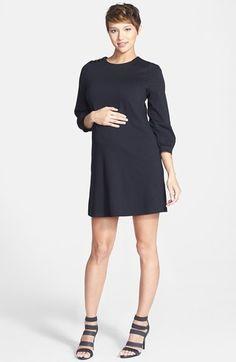 Women's Maternal America Button Shoulder Maternity Dress