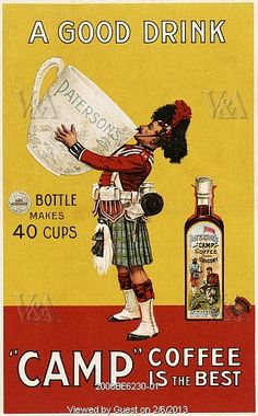 Advertisement for Camp Coffee. Scotland, late 19th century