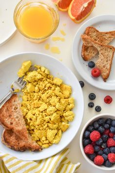 Tofu Scrambled Eggs by forkandbeans #Scrambled_Eggs #Tofu #Healthy