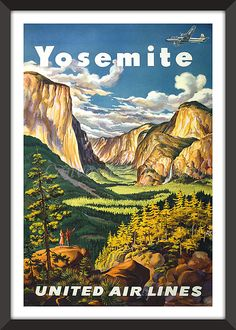 Yosemite with United Air Lines
