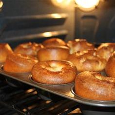 Sky High Yorkshire Pudding - made a lot of batter, more like 20, then 12. Also cook for 20-25 mins next time. They turned out very crispy.