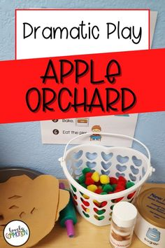 Create an apple orchard in your dramatic play center!  It's fun and educational way for your preschool or pre-k students to practice social skills. Preschool Learning Activities, Preschool Classroom, Kindergarten, Classroom Organization, Organization Ideas, Dramatic Play Centers, Thematic Units, Play Centre, Apple Orchard
