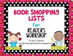 These book shopping lists will help make student book shopping in your classroom a breeze! These list cards include three spots to write in three different reading levels (easy, independent, and instructional). Simply print them on cardstock, laminate, and they are ready to go.