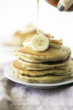 peanut butter, banana, and bacon pancakes #VoteWrightBrandBacon #ad