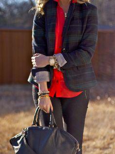 tartan & red