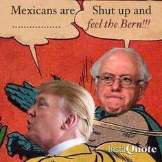 """Haha! xD  #FeelTheBern #Bernie2016 #Vote"
