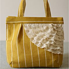 I don't love the bag color but I like the stacked lace concept