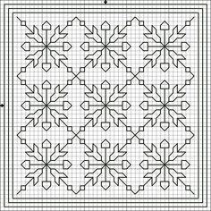 Flores no Jardim - Lee Albrecht: Free blackwork pattern