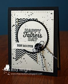 Happy Father's Day It uses the My Paper Pumpkin stamp again along with Gorgeous Grunge and And Many More.