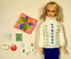 vintage barbie Francie the bridge bit 1279 1967 sweater set
