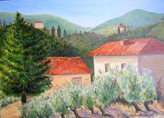 """Olive Grove-Impruneta"" Giclee print: $85.00: Free shipping: 2015 contact: MB.artwork@verizon.net"