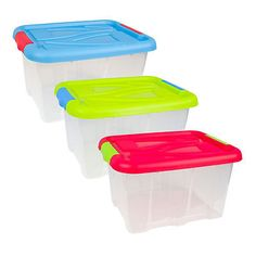 Plastic Storage Box Multibox Stacking Box with Lid 17l or 30l NEW