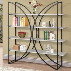 4 Tiers Kross Brown Bookcase | Overstock.com Shopping - The Best Deals on Media/Bookshelves