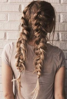 messy pigtail braids