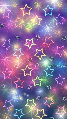 Wallpaper… By Artist Unknown… – Galaxy Art Flower Phone Wallpaper, Rainbow Wallpaper, Star Wallpaper, Glitter Wallpaper, Butterfly Wallpaper, Cute Wallpaper Backgrounds, Cellphone Wallpaper, Pretty Wallpapers, Pink Wallpaper
