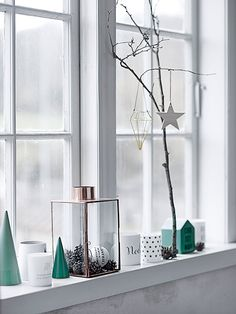 Make a personal display and spread some 'hygge' this December. All is from Bloomingville except for the pine cones - they're from the forest!