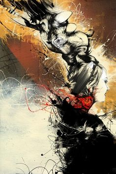 Is this a fashion illustration or an piece of art? by Russ Mills Portraits, Portrait Art, Amazing Drawings, Fantastic Art, Artist Art, Cool Artwork, Illustration Art, Art Illustrations, Fashion Illustrations
