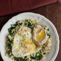 Whole Grain Brunch: Garlicky Spinach, Millet, and Eggs | Naturally Ella