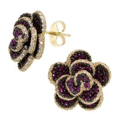 Super obsessed with these gorgeous pink sapphire and diamond earrings from Ben Bridge
