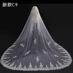 Cathedral lace tulle wedding veil bridal veil wedding veil ff013