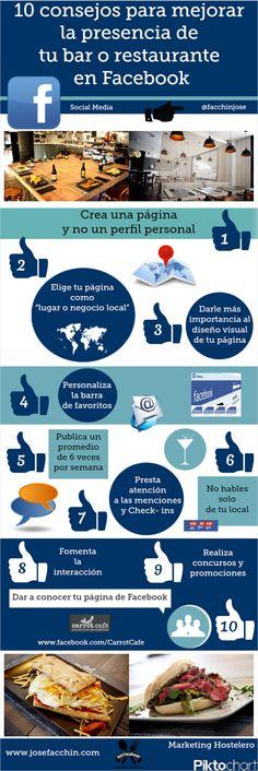 10 consejos para mejorar tu bar o restaurante en FaceBook #infografia #infographic #socialmedia #tourism