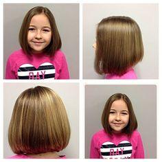 cute girl bob haircut