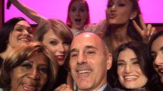 Matt Lauer's amazing selfie with Billboard's 'Women In Music'