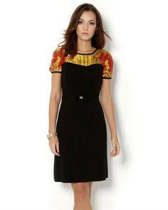 Class Roberto Cavalli 100% Wool (100% Silk Insert), Dress with Silk Insert - Made in Italy