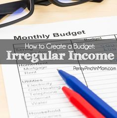 It can be touch to know how to create a budget with irregular income.  We have printables and tips to get a handle on your finances.