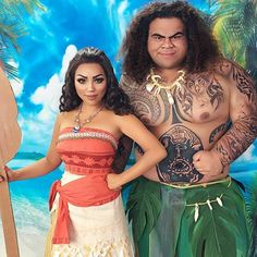 Moana and Maui Cosplay!! Remember to Follow us @dailyart for more! Artwork by @promisetamang Tag your friends below!#Dailyart