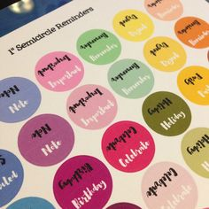 "1"" Semicircle Reminders - Free Planner Printable Stickers - My Planner Envy"
