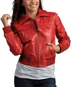 Leather-look Cracked Jacket | Bomber jackets, Bombers and Jackets