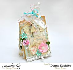 We Welcome Back the Dynamic Mini Albums & Altered Art of Donna Espiritu! Altered Tins, Altered Books, Altered Art, Mini Albums Scrap, Mini Scrapbook Albums, Book Making, Card Making, Paper Divas, Easel Cards