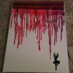Dancer crayon craft