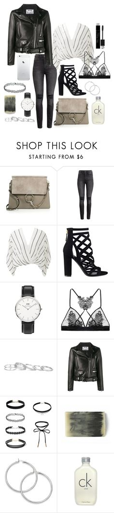 """""""282"""" by m-fashionartist ❤ liked on Polyvore featuring Chloé, H&M, Free People, GUESS, Daniel Wellington, Fleur of England, Kendra Scott, Acne Studios, Calvin Klein and Christian Dior"""