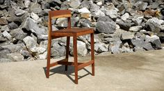 Walnut Wednesday time featuring Crafted Workshop with awesome walnut bar stools finished with Waterlox!