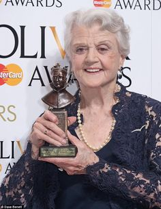 Triumphant: Dame Angela Lansbury's triumphant West End return was capped with an Olivier A...