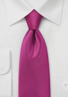 Mens Vibrant Fuschia Necktie