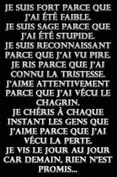 dans Chemin JE-SUIS - The Love Quotes French Words, French Quotes, Words Quotes, Love Quotes, Inspirational Quotes, Quote Citation, Amai, Celebration Quotes, Positive Attitude