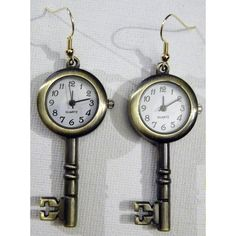Steampunk Key Earrings Antique Style Retro Brass by tempusfugit