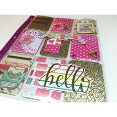 Valentines pocket letter - using new pocket letter brand inserts