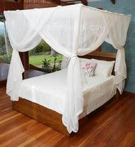 Deluxe cotton box shaped mosquito net bed canopy for queen size bed. Fully hemmed and quality run proof weave cotton manufacture. Canopy Bedroom Sets, Bedrooms, Canopy Beds, Bedroom Furniture, Bedroom Decor, Bedroom Ideas, Four Poster Bed Frame, Mosquito Net Bed, Bed Net