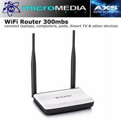 Wifi Network Router 300mbs Dual Antenna Internet home/office Windows/Linux #MicroMediaAXSTenda