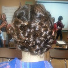 Photo by blazesymone katniss braids + pinned up (': I did it in spanish class