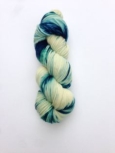 Hand Dyed Yarn, Knitting Yarn, Superwash Merino Wool, 100g/246 yards
