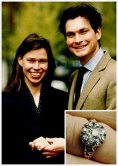 Lady Sarah Chatto.Princess Margaret's daughter received an old style cluster ring from Daniel Chatto, a fitting choice for an artist.