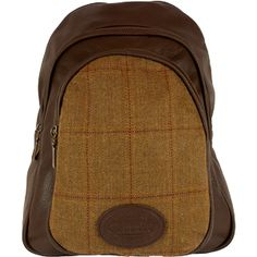 Dee Two Rose Brown Tweed Mini Back Pack Country Cognac The Country Cognac range of handbags and accessories combines the luxury of leather with the